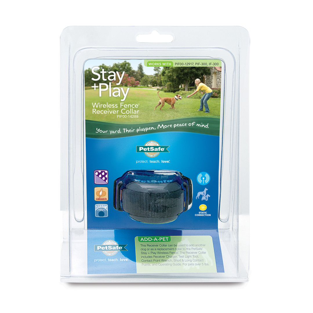 shop for stay play wireless fence receiver collar by petsafe pif0012918