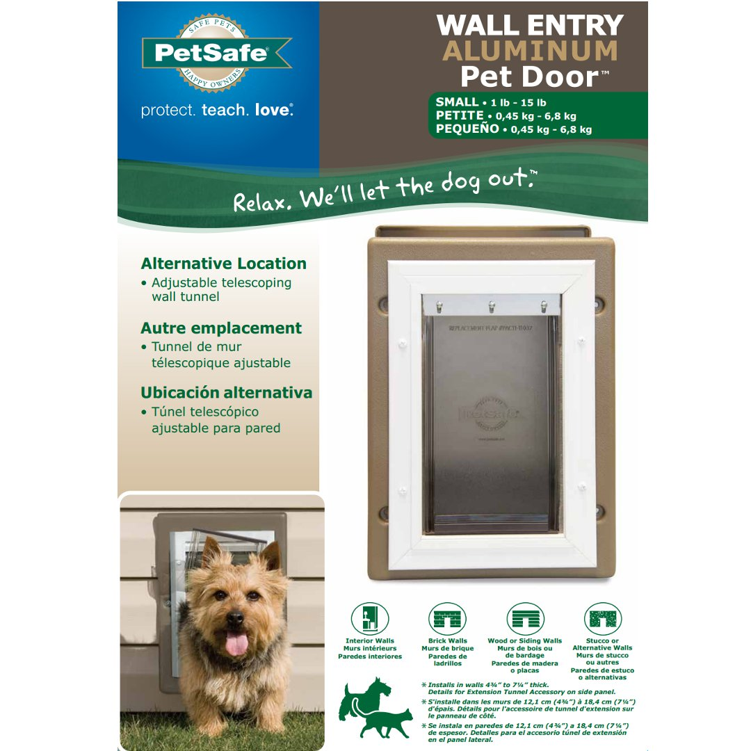 Wall Entry Aluminum Pet Door By Petsafe Grp Wall